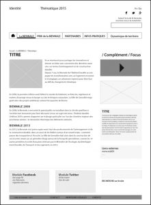 Site web - wireframe